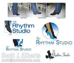 Images of the process our graphics designer, Scott Alberts took for The Rhythm Studio.