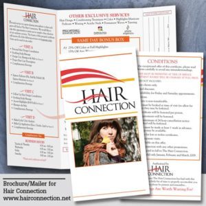 Hair salon brochures.