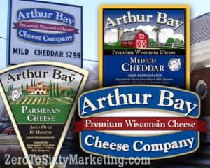 Arthur Bay Chees logo.