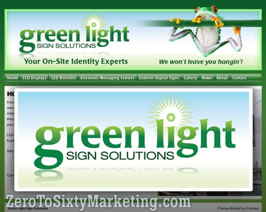 Green Light Sign Solutions Website
