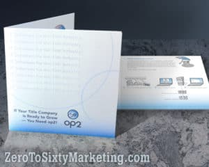 High-end brochure for event marketing.