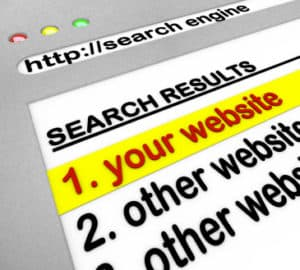 Search engine results, your site number one.